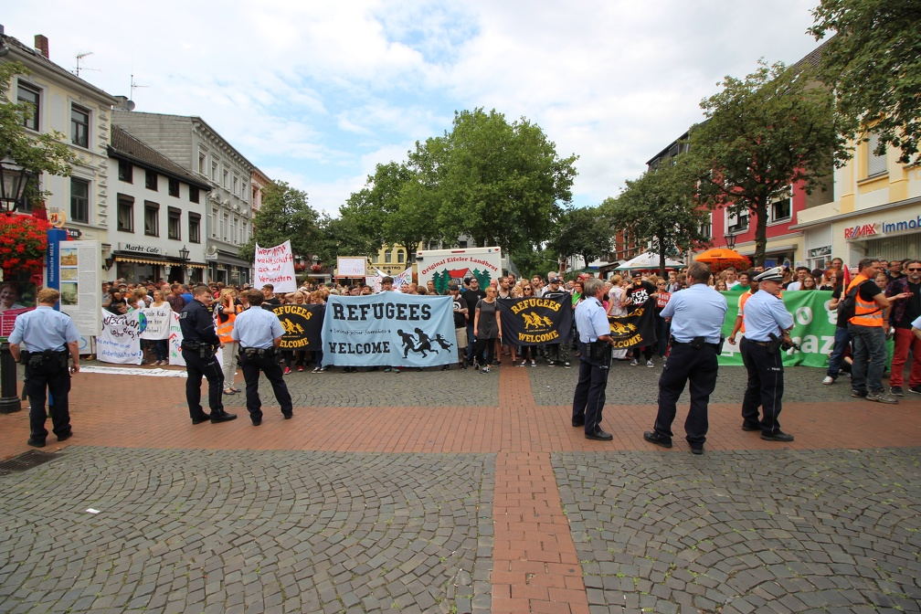 Gegendemo in Dülken